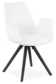 Krzesło SKANOR - biały/czarny