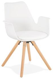Krzesło SKANOR - biały/naturalny