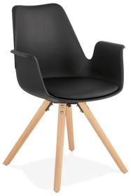 Krzesło SKANOR - czarny/naturalny