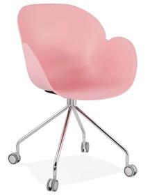 Krzesło obrotowe RULIO - różowy