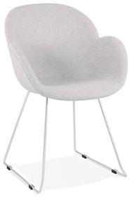 Krzesło TEXINA - jasny szary