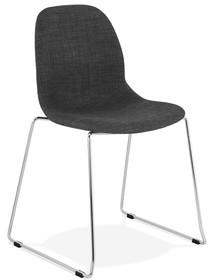 Krzesło SILENTO - ciemny szary/chrom
