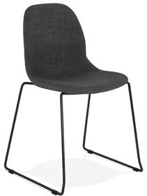 Krzesło SILENTO - ciemny szary/czarny