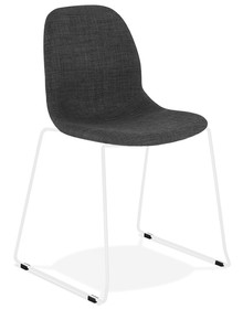 Krzesło SILENTO - ciemny szary/biały