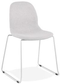 Krzesło SILENTO - jasny szary/chrom