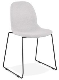 Krzesło SILENTO - jasny szary/czarny