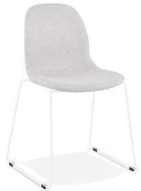 Krzesło SILENTO - jasny szary/biały