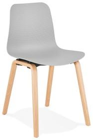Krzesło MONARK - szary/naturalny