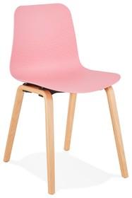 Krzesło MONARK - różowy/naturalny