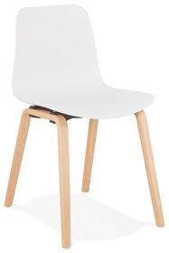 Krzesło MONARK - biały/naturalny
