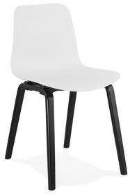 Krzesło MONARK - biały/czarny