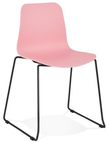 Krzesło BEE - różowy/czarny