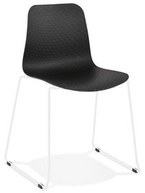 Krzesło BEE - czarny/biały