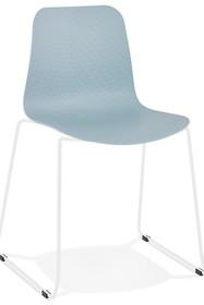 Krzesło BEE - niebieski/biały