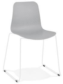 Krzesło BEE - szary/biały