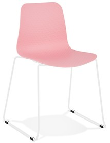 Krzesło BEE - różowy/biały