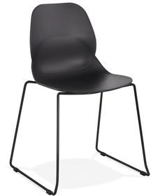 Krzesło CLAUDI - czarny/czarny