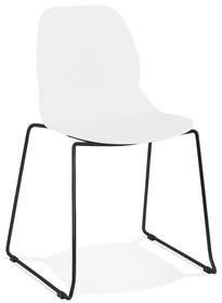 Krzesło CLAUDI - biały/czarny