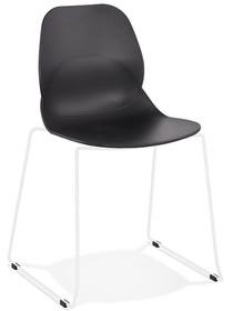 Krzesło CLAUDI - czarny/biały