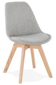Krzesło COMFY - szary/naturalny