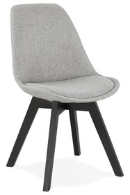 Krzesło COMFY - szary/czarny