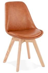 Krzesło MANITOBA - brązowy/naturalny