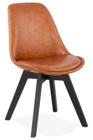 Krzesło MANITOBA - brązowy/czarny