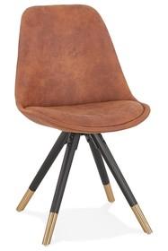 Krzesło SIDONIE - brązowy