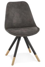 Krzesło SIDONIE - ciemny szary