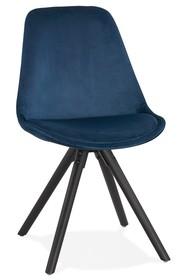 Krzesło JONES - granatowy/czarny