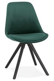 Krzesło JONES - zielony/czarny