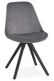 Krzesło JONES - szary/czarny