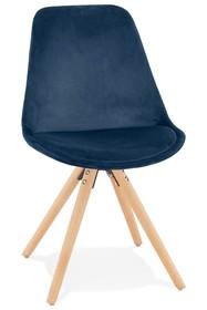 Krzesło JONES - granatowy/naturalny