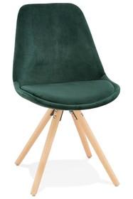 Krzesło JONES - zielony/naturalny