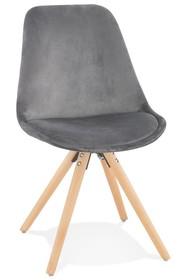 Krzesło JONES - szary/naturalny