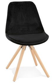 Krzesło JONES - czarny/naturalny