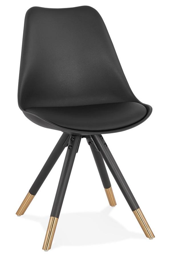 Krzesło CHARLIE - brązowy/czarny