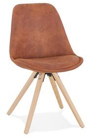Krzesło CHARLIE - brązowy/naturalny