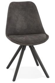 Krzesło CHARLIE - ciemny szary/czarny