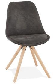 Krzesło CHARLIE - ciemny szary/naturalny
