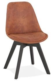 Krzesło SOME - brązowy/czarny