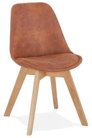 Krzesło SOME - brązowy/naturalny