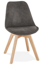 Krzesło SOME - ciemny szary/naturalny