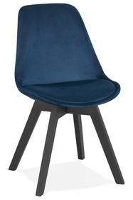 Krzesło PHIL - granatowy/czarny