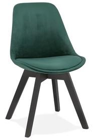Krzesło PHIL - zielony/czarny