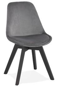 Krzesło PHIL - szary/czarny
