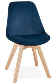 Krzesło PHIL - granatowy/naturalny