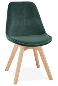 Krzesło PHIL - zielony/naturalny
