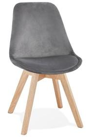 Krzesło PHIL - szarry/naturalny