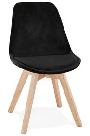 Krzesło PHIL - czarny/naturalny